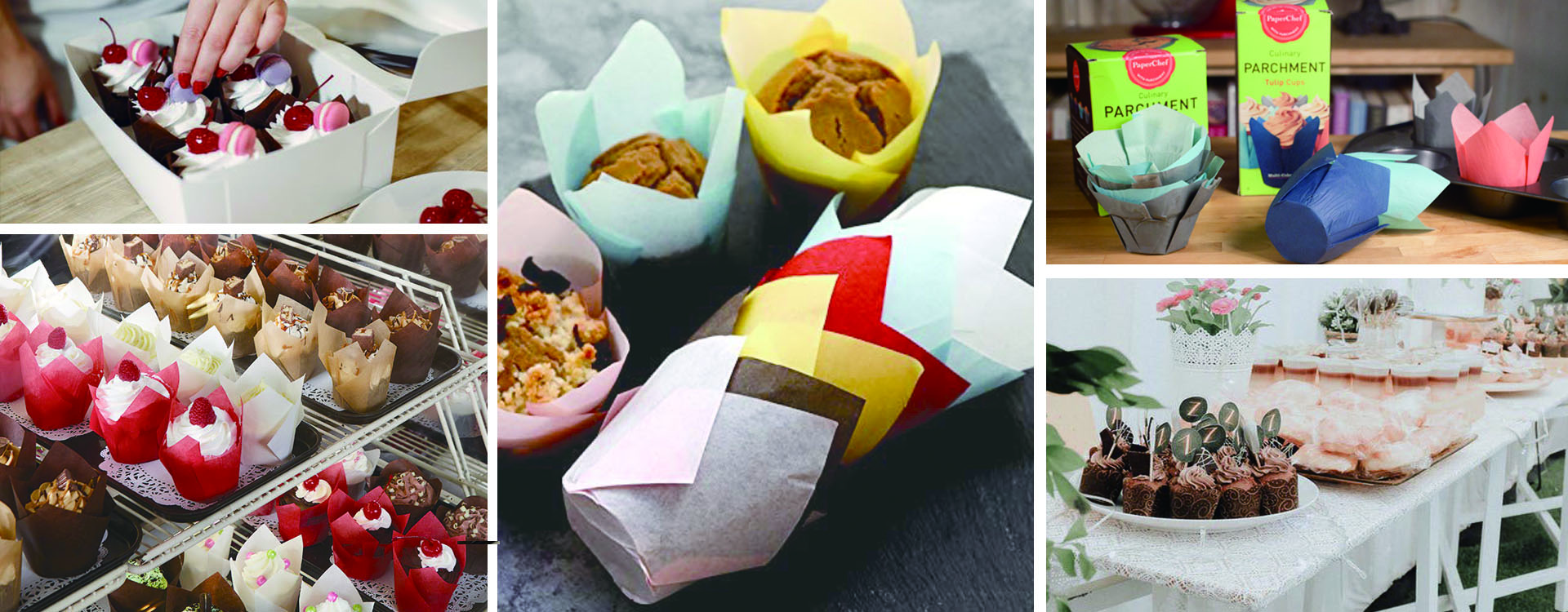 grease proof paper tulip muffin cups