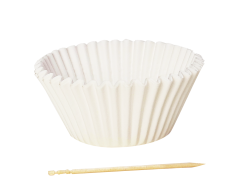 114 mm standard white paper cupcake cups liners ; 50*32 / 45*34 mm white cupcake cases