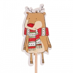 long wooden sticks Cartoon Christmas deer