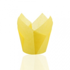 light yellow color 150 mm Middle grease proof paper Muffin Tulip Baking Cups