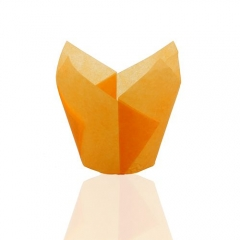 orange color 150 mm Middle grease proof paper Muffin Tulip Baking Cups