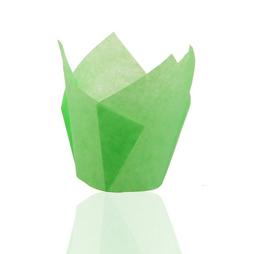 light green color 150 mm Middle grease proof paper Muffin Tulip Baking Cups