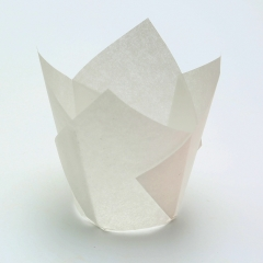 white color 150 mm Middle grease proof paper Muffin Tulip Baking Cups